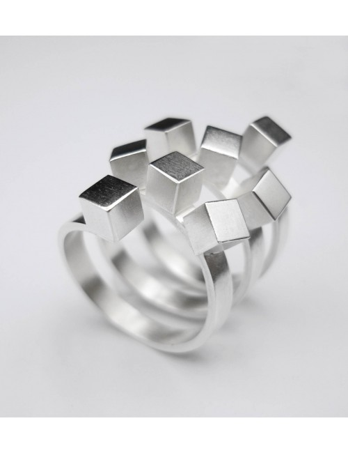 Bague Cubes en argent 925