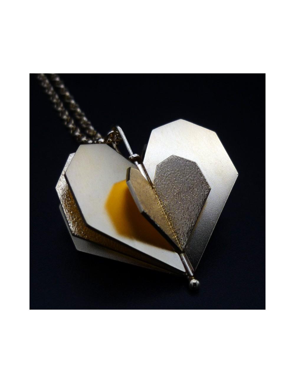Sautoir coeur doré