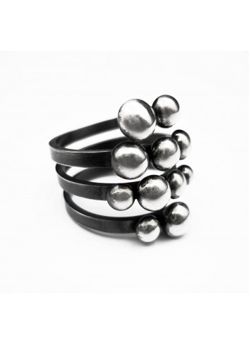 Bague Perles d'Argent