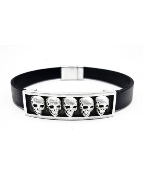 Bracelet Tête de Mort en argent 925