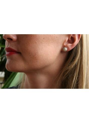 Boucles d'oreilles puces écailles