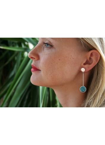Boucles d'oreilles éclats de turquoise