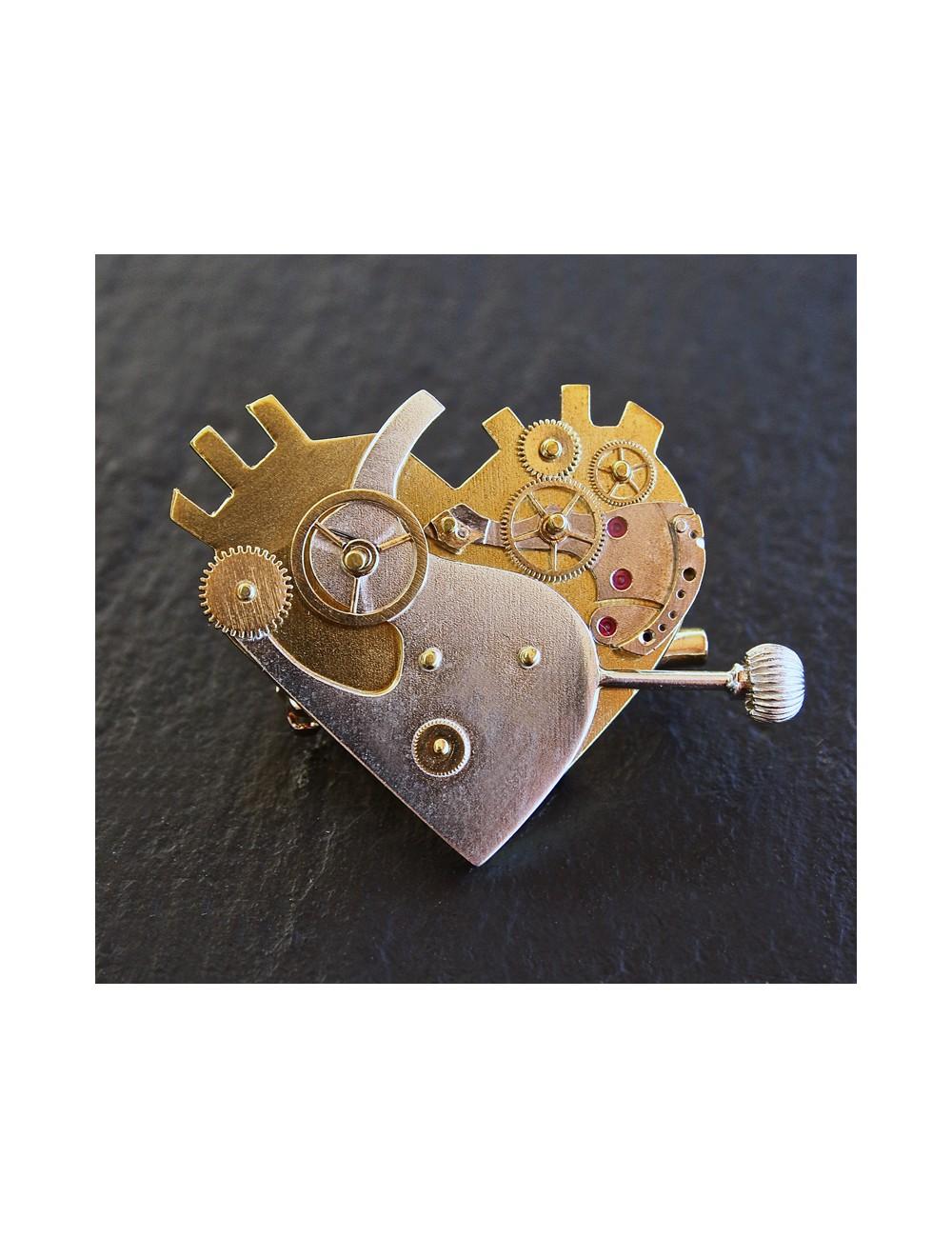 Broche Coeur Mécanique