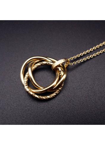 Collier anneaux de Borromée doré