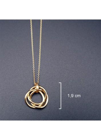 Bracelet anneaux de Borromée doré
