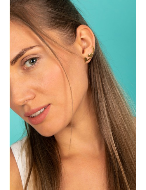 Boucles d'oreilles oiseaux dorées