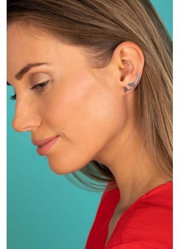 Boucles d'oreilles oiseaux en argent rhodié