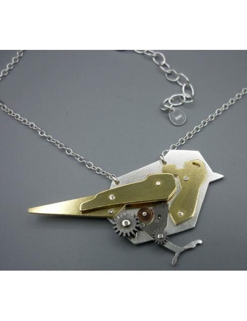 Collier Oiseau Mécanique