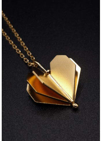Collier coeur doré